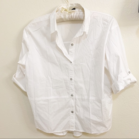 EILEEN FISHER Organic Cotton Button Down Shirt